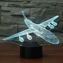 Christmas Gifts Aircraft 3D Night Light LED 7