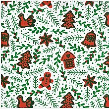 Christmas Gingerbread Characters Poly-Cotton