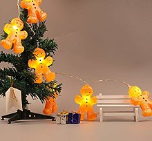 Christmas Gingerbread Men String Lights Led 3D
