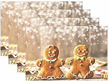 Christmas Gingerbread PlaceMats Table mats for