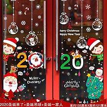 Christmas Glass Stickers Door Stickers Santa Claus