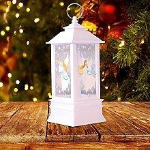 Christmas Glitter Santa Lantern Light Xmas Tree
