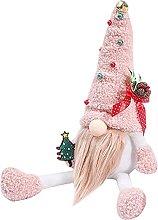 Christmas Gnomes Pink Santa Plush Faceless Doll