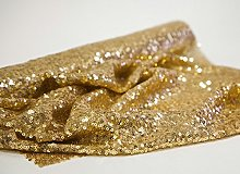 Christmas Gold Sequin Fabric Roll 50cm x 3m Table