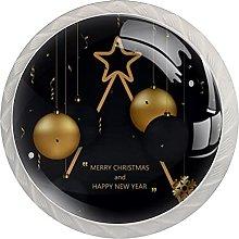 Christmas Golden Black Balls 4 Pack Mushroom