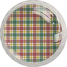 Christmas Grid (Set of 4) Cabinet Knobs 4 Pack for