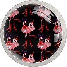 Christmas Hat Flamingo Antlers (4Pack) Drawer Knob