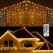 Christmas Icicle Lights Outdoor, BrizLabs 45.3ft
