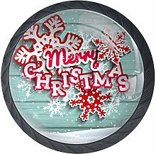 Christmas Illustration Black Crystal Glass Round
