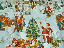 Christmas is Coming Tablecloth Fabric by The Metre