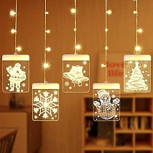 Christmas LED String Lights, Dimmable Creative 3D