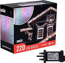 Christmas Lights 220 LED 7.5m/24ft Outdoor