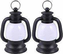 Christmas Lights 2Pcs Retro Small Kerosene Lamp