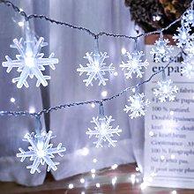 Christmas Lights Snowflake, BrizLabs 2 Pack 13ft