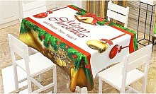 Christmas Microfibre Tablecloth: Large/Merry
