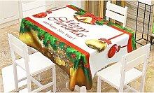 Christmas Microfibre Tablecloth: Small/Snowflakes