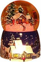Christmas Musical Snow Globe, Music Box Crystal