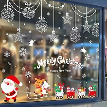 Christmas Ornament Glass Sticker Santa Door Sticker