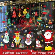 Christmas Ornament Sticker Santa Gift Door Sticker