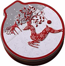 Christmas Ornaments Round Cookie Jar Candy Box