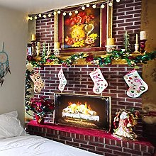 Christmas Party Wall Tapestry Art Deco Blanket