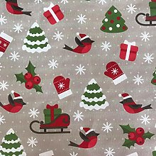 Christmas Pattern Tablecloth 2019 (160x140 cm oval)