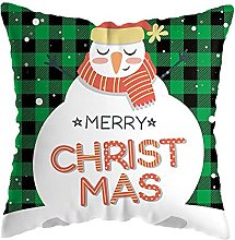 Christmas Pillow Cover Lattice Cushion Cover Sofa