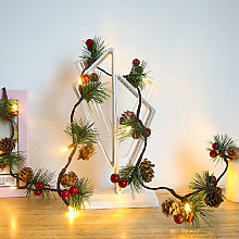 Christmas Pine Cones String Lights 20LED 6.56ft