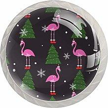 Christmas Pink Flamingo Xmas Tree Snowflake