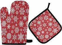 Christmas Potholders and Oven Mitts Sets Heat