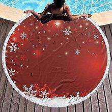 Christmas Printed Round Beach Towel Yoga Picnic