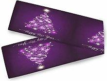 Christmas Purple Shining Fir Tree Table Runner