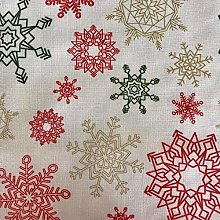 Christmas Red, Gold & Green Snow Tablecloth