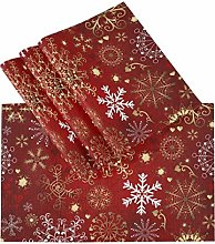 Christmas Red Gold White Snowflake Placemats