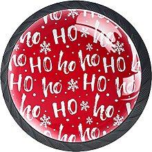 Christmas Red Ho, Modern Minimalist Printing