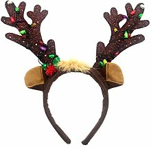 Christmas Reindeer Antlers Headband,Light Light Up