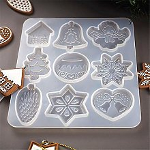 Christmas Resin Moulds Pendant Jewelry Making