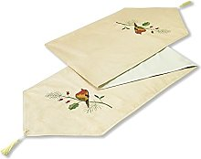 Christmas Robin Table Runner Dining Cloth