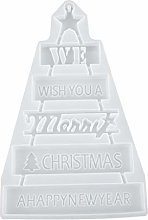 Christmas Silicone Mould, Merry Xmas Silicone Tree