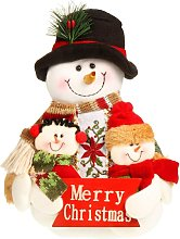 Christmas Sitting Snowman Ornament Table Fireplace