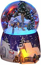 Christmas Snow House Crystal Ball Music Box,