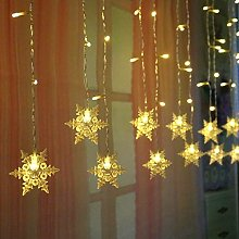 Christmas Snowflake Fairy Lights for Indoor