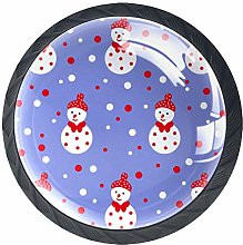 Christmas Snowman and Dots Cabinet Door Knobs