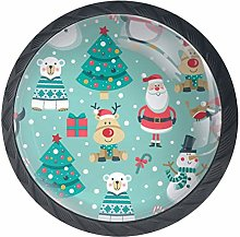 Christmas Snowman Black Crystal Glass Round