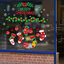 Christmas Stickers Glass Door Stickers Holiday