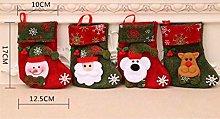 Christmas Stocking Set of 4 Classic Decoration