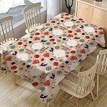Christmas Table Cloth,Table Cover Khaki Christmas
