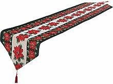 Christmas Table Runner Decorative Linen Tablecloth