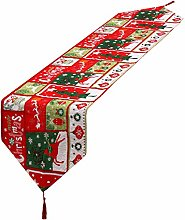 Christmas Table Runner Linen Decorative Table