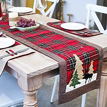 Christmas Table Runners Embroidered Linen Table